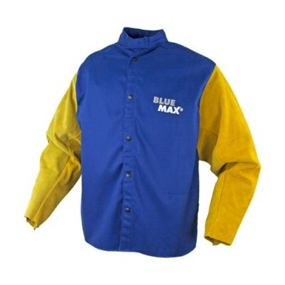 Blue Max Welding Jacket with leather sleeves